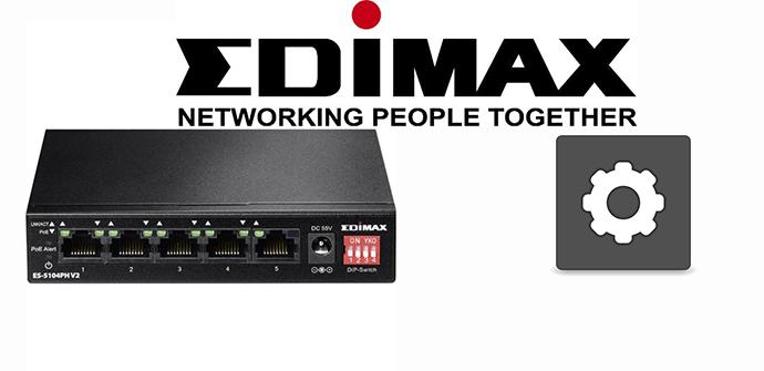 Edimax ES-5104PH V2 gestión de funciones