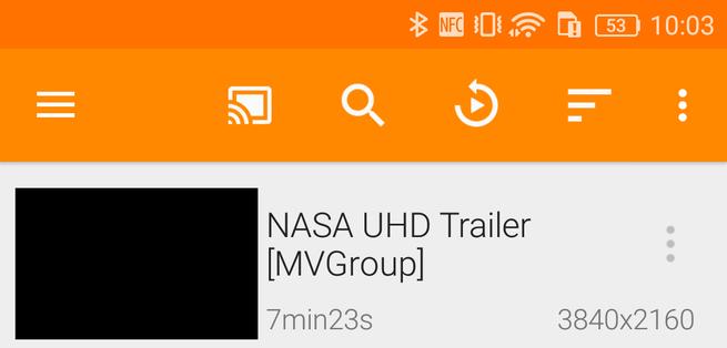 Icono Chromecast VLC Android