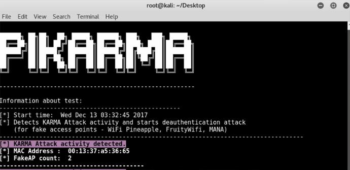 Detectar seguridad WiFi con PiKarma
