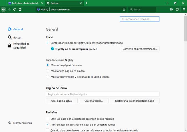 Firefox Sync desactivado en Firefox 60