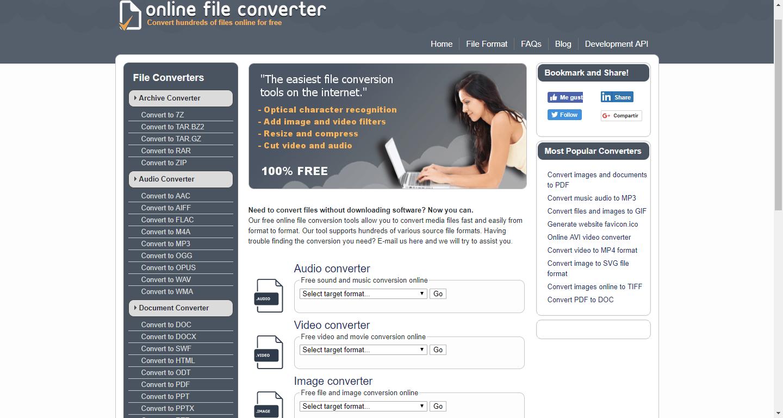 Online File Converter: Convierte gratis cualquier tipo de archivo