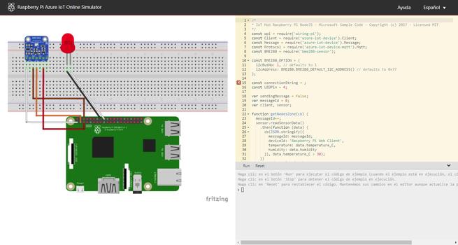 Raspberry Pi Azure IoT Online Simulator