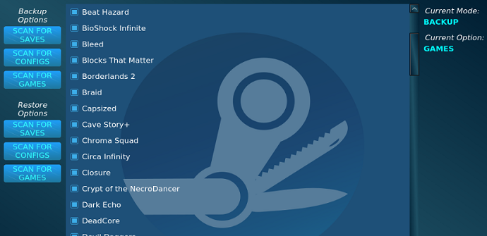 SLSK copia de seguridad y restauración de archivos de Steam