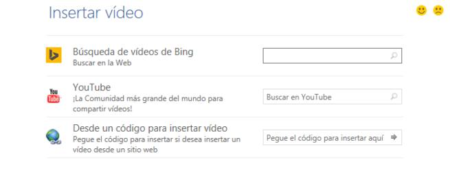 Word Insertar vídeo en línea