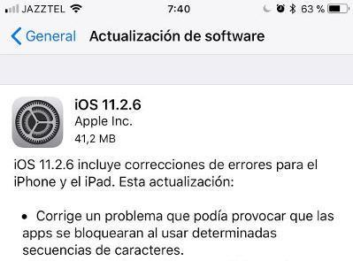 iOS 11.2.6