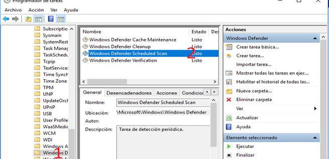 Programar Windows Defender