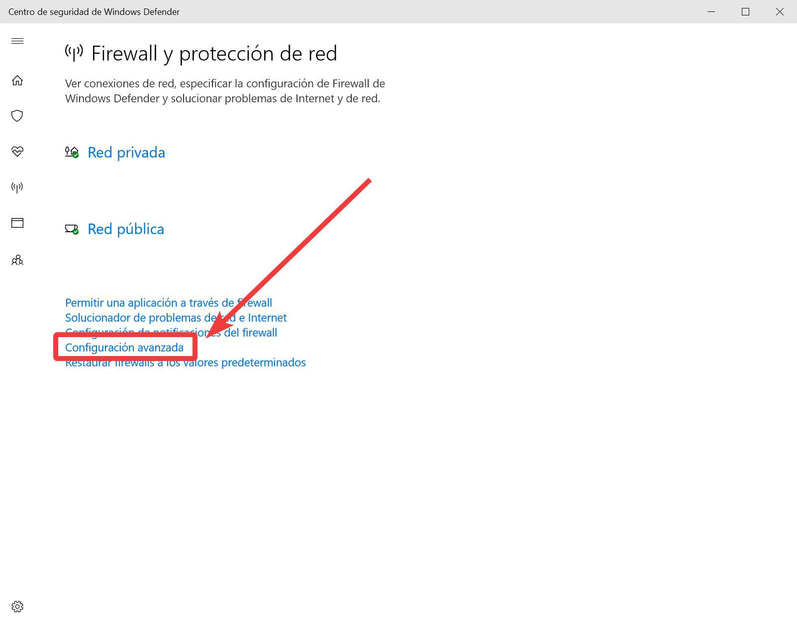 Cómo permitir en el firewall de Windows 10 que nos puedan