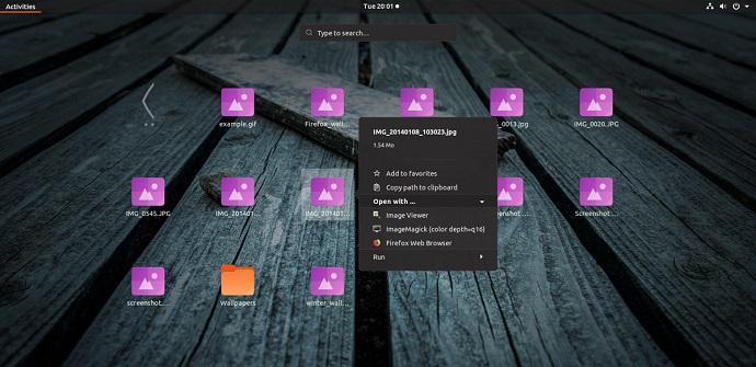Argonauta extensión Linux explorar archivos
