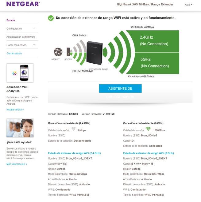 NETGEAR EX8000 Nighthawk X6S: Análisis repetidor Wi-Fi AC tri-banda