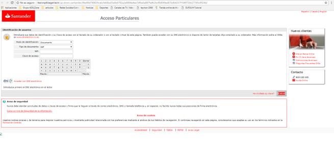 banco santander phishing
