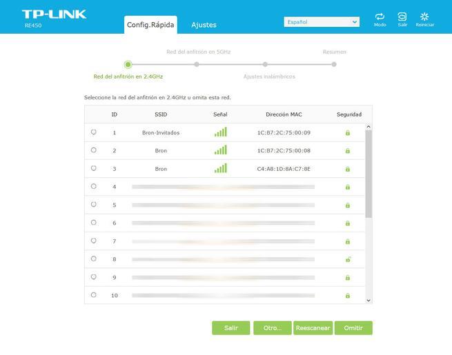 TP-Link RE450: Asistente de configuración web