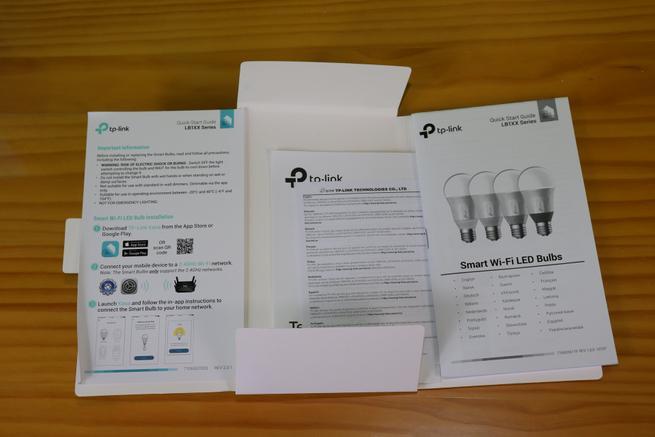 Documentación de la bombilla inteligente TP-Link LB120