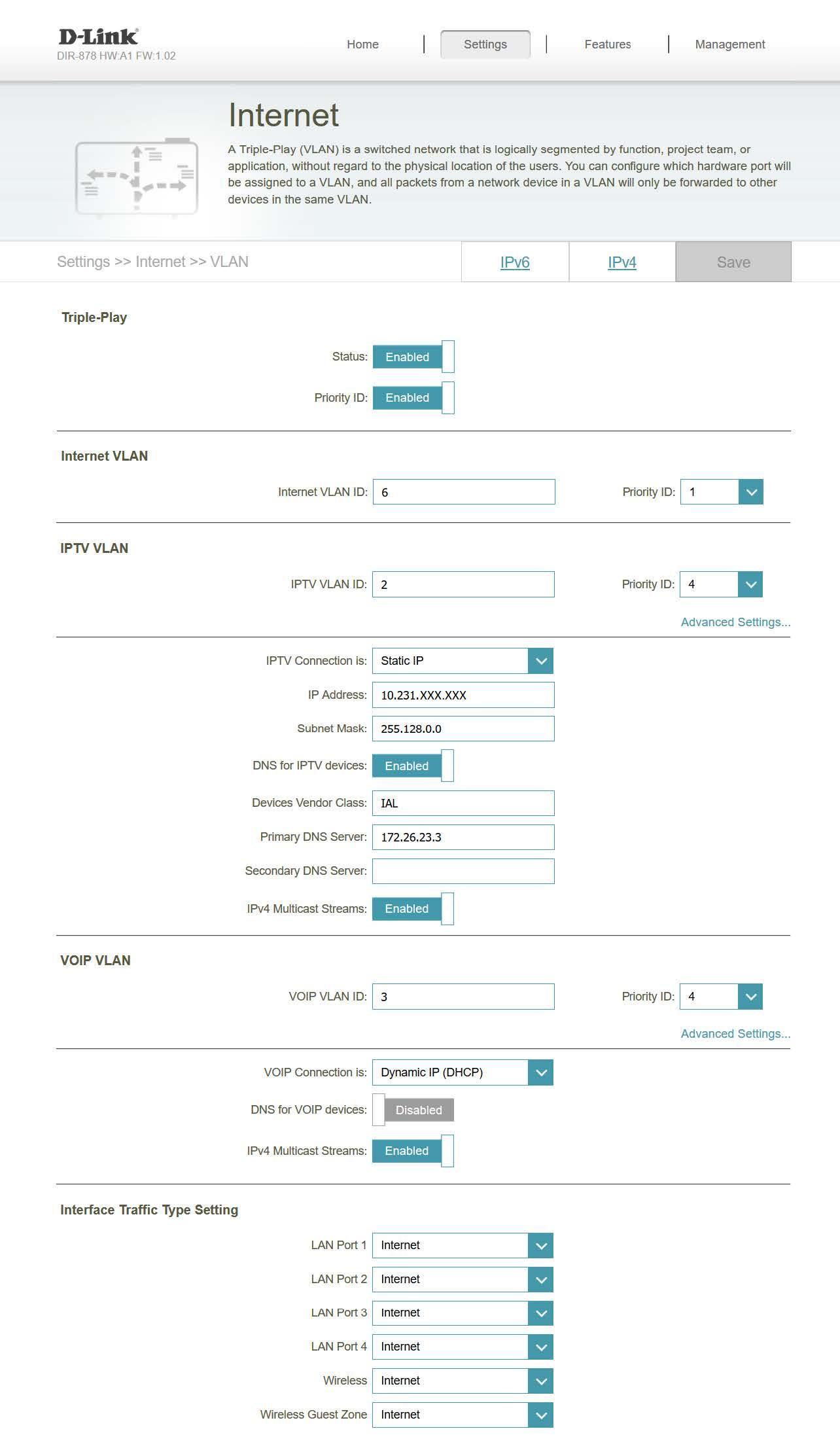 Manual de configuración routers D-Link con la Triple VLAN de