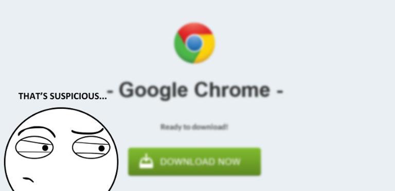 Cuidado con los anuncios y webs falsas para descargar Google Chrome