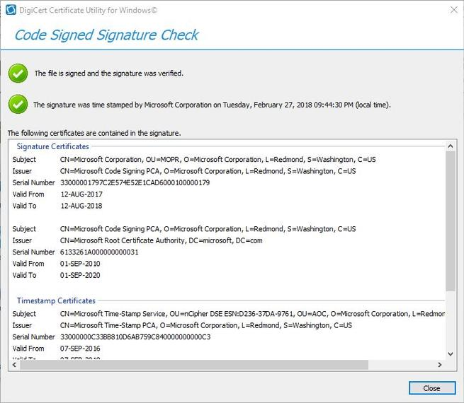 Digicert Certificate Utility - Verificar certificado