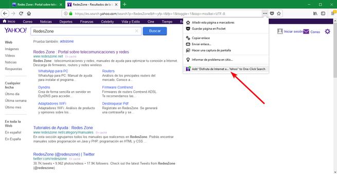 Firefox 61 - Añadir nuevo motor búsqueda