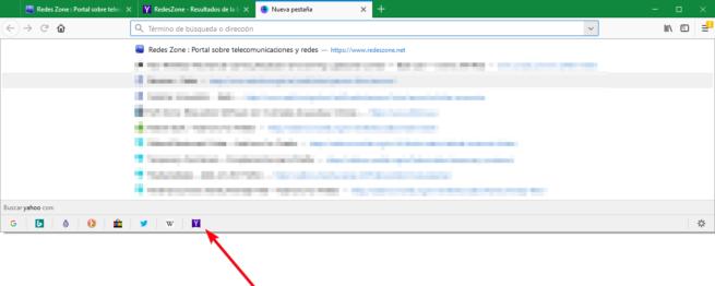 Firefox 61 - Cambiar motor búsqueda con un clic