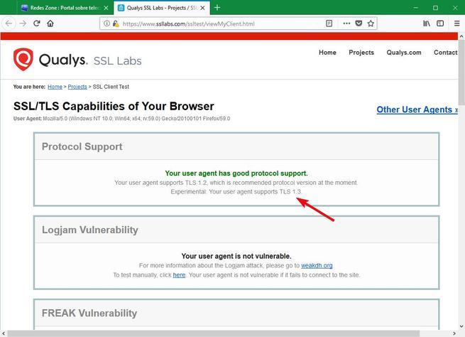 Firefox compatible TLS 1.3