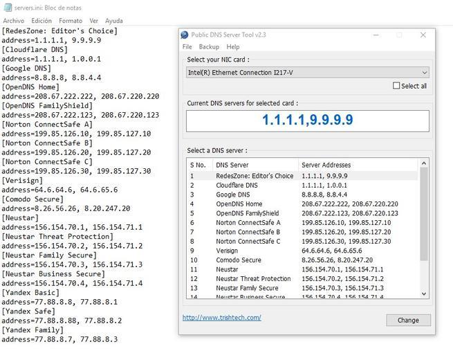 Public DNS Server Tool - Servidores propios