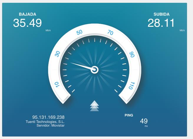 Prueba de velocidad 4G con el router portátil TP-Link M7200