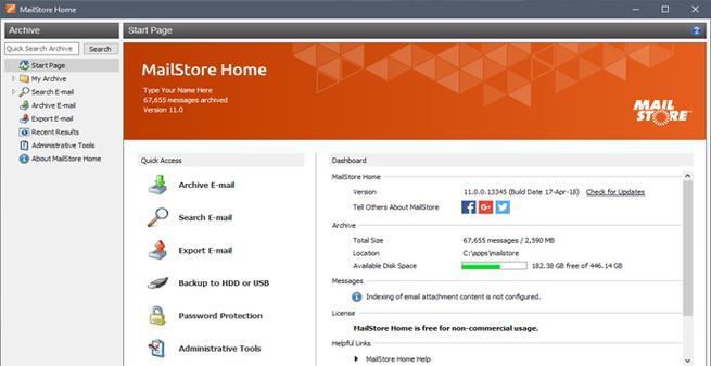 Crear copias de seguridad de correos con MailStore Home