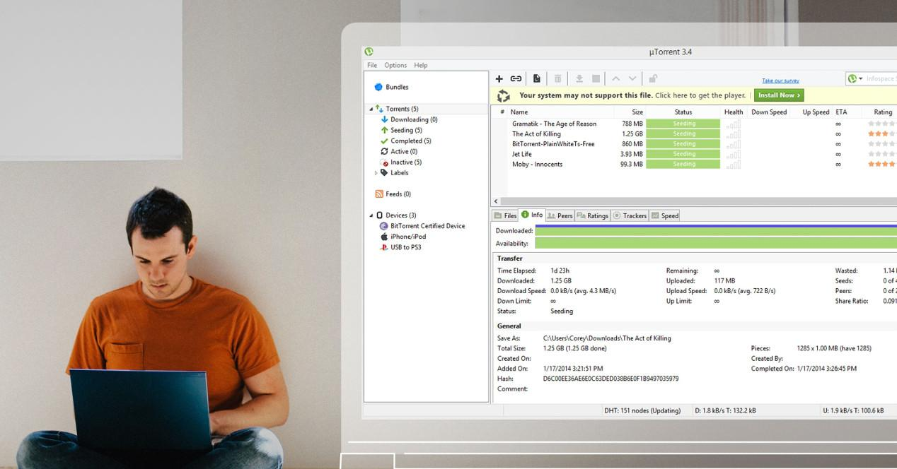 uTorrent en portátil