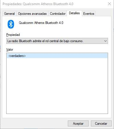Comprobar Bluetooth LE Windows 10