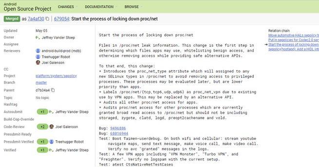 Monitorización de red Android P