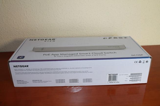 Imagen de la caja del switch NETGEAR GC110P