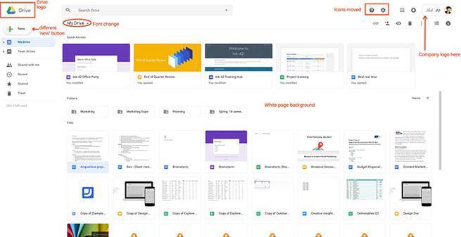 Nuevo aspecto de Google Drive