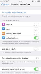 Actualizaciones automáticas de apps en iOS
