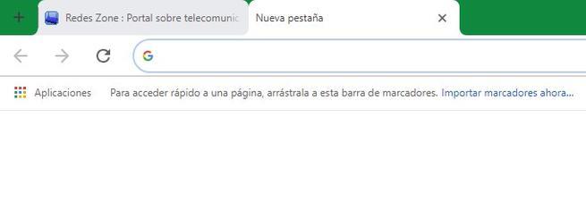 Botón Nueva Pestaña Google Chrome