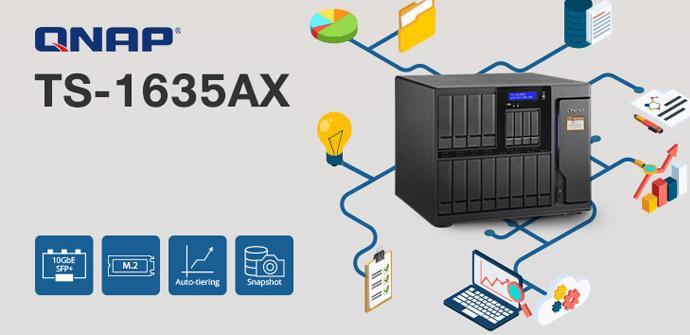Ver noticia '¿Necesitas mucho almacenamiento en tu NAS? El nuevo QNAP TS-1635AX tiene 16 bahías'