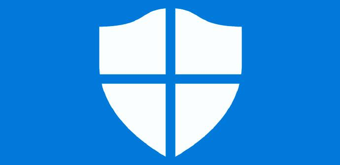 Windows Defender en azul