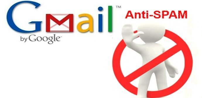 Crear filtro de Spam en Gmail