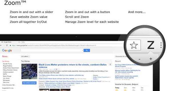 Extensión Zoom para Google Chrome