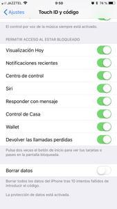 iOS 11.4 activar borrado de datos
