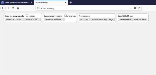 Liberar memoria en Mozilla Firefox