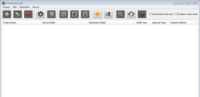 Configuración de OneWay Backup