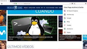 Abre páginas archivadas en caché con esta extensión para Chrome y Firefox