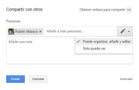 Google Drive - Compartir carpeta con permisos
