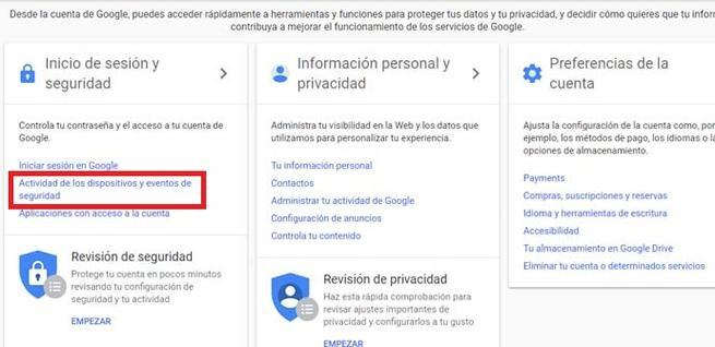 Cerrar sesión de Gmail en todos los dispositivos