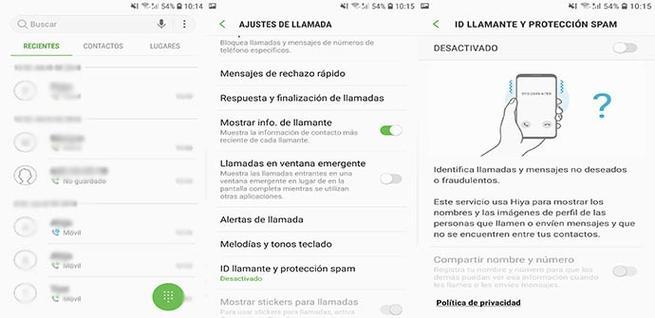 Activar filtro de llamadas Spam en Android