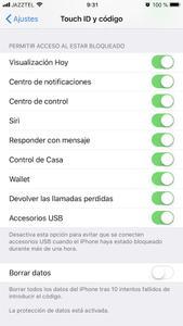 iOS 11.4.1 - modo USB restringido