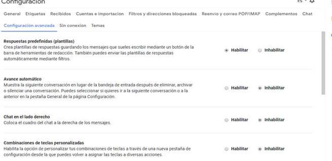 Crear mensajes almacenados en Gmail