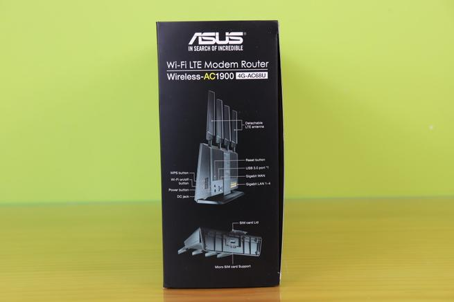 Lateral derecho del router 4G ASUS 4G-AC68U