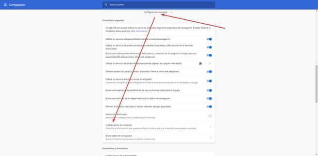 Activar o desactivar JavaScript en Google Chrome