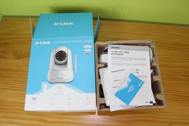 Interior de la caja de la cámara IP D-Link DCS-8525LH
