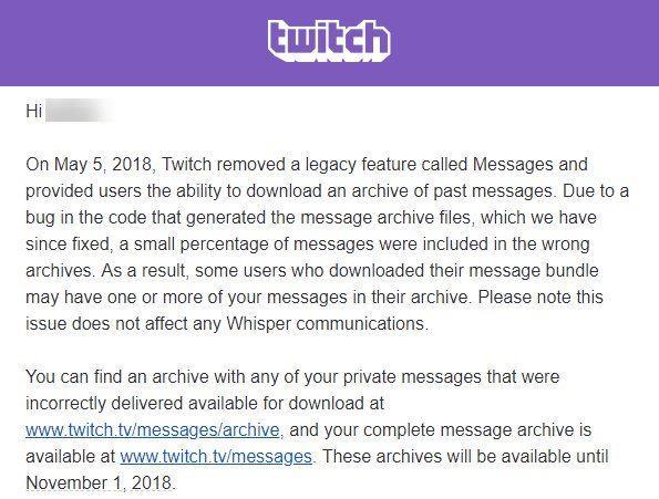Fuga Mensajes Twitch