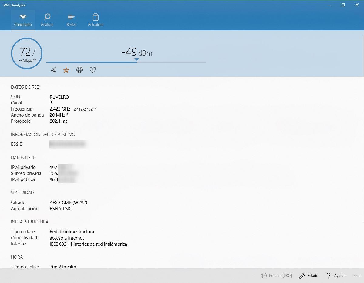 WiFi Analyzer: busca el mejor canal para nuestro Wi-Fi en Windows 10